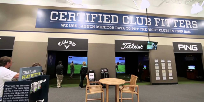 Golf Galaxy club fitting