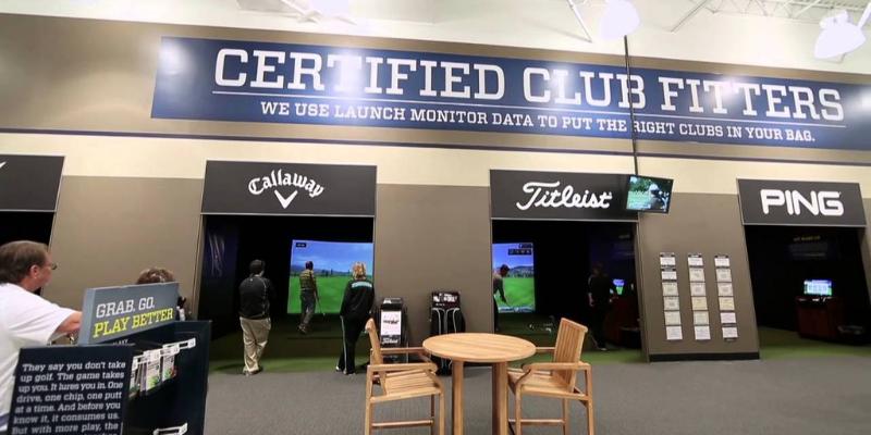Golf Galaxy club fitting