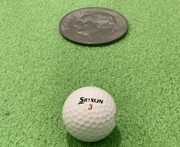 Golf Prank Giant Dime Trick