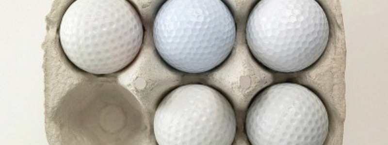 Golf balls are like eggs