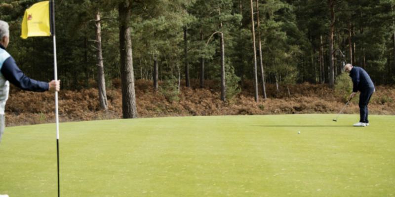 Golf rules flagstick