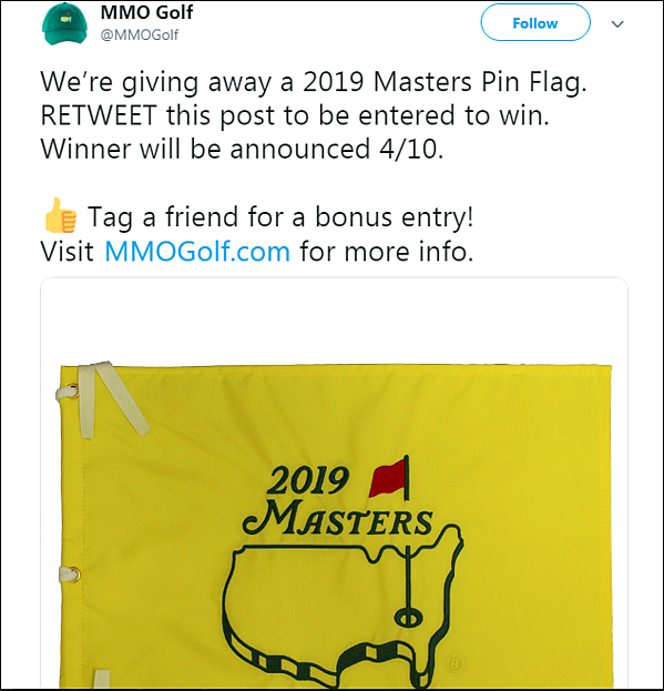 MMO golf Twitter contest