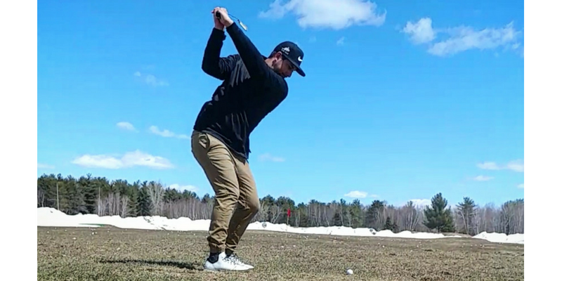 Pascal golfing in Canada