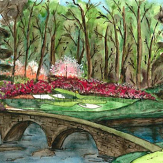 Sterling Watercolors awesome golf art