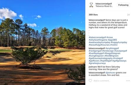 Tobacco Road Golf Instagram account
