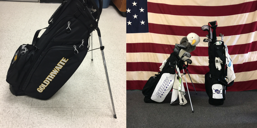Goldthwaite HS and Curry College Custom OUUL bags