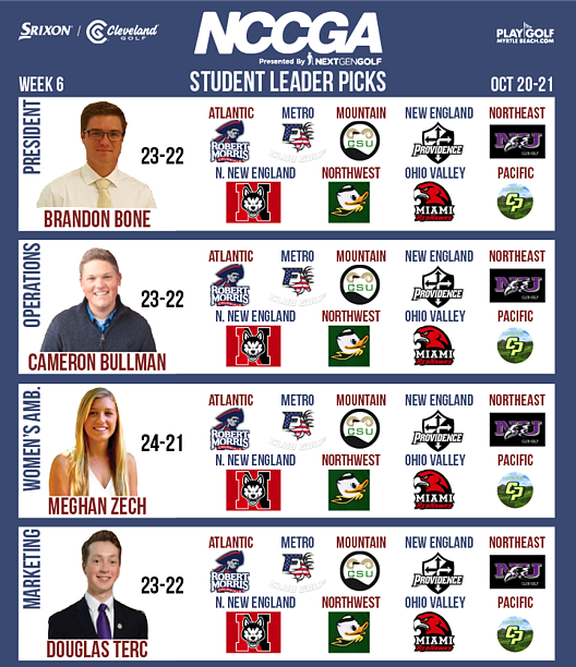 Student Leader picks week 6