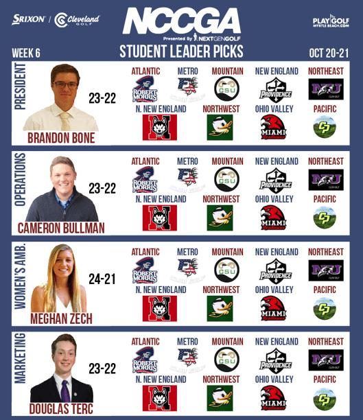 Student Leader picks week 6
