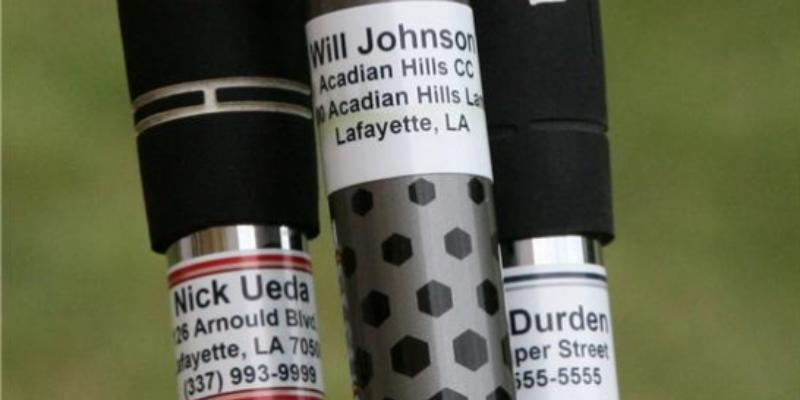 golf club labels