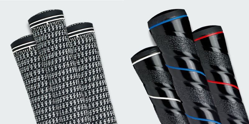 Different types of golf grips